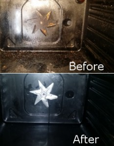 Inside Oven Before and After Cleaning